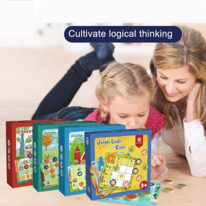 Creative Jungle Animal Logic Game Parent-Child Interactive Board Game Toys Kids Educational Toys For Childrens Day Gift
