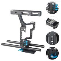 Camera-Cage-Aluminum-Alloy-Handheld-Portable-DSLR-Camera-Cage-Rig-for-A7-GH4