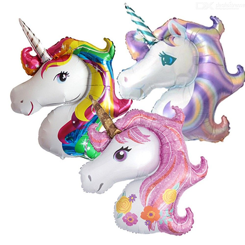 11080cm Large Size Unicorn Helium Balloons Kids Toy Inflatable Unicorn Foil Balloon For Birthday Party Decoration