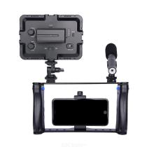 PC01-Aluminum-Alloy-Smartphone-Video-Rig-Kit-Phone-Cage-with-Hot-Shoe-Double-Handle