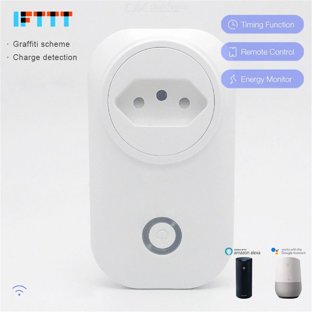 Brazil Smart Switch Intelligent Voice Control Smart Outlet Compatible With Alexa Google Home