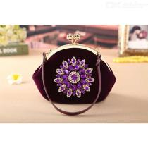 Diamond-Sunflower-Handbag-Bridal-Wedding-Party-Bag-For-Women