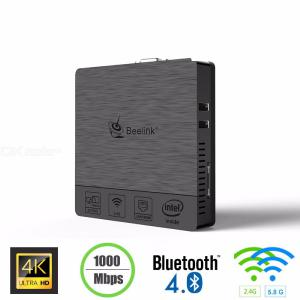 Beelink BT3 Pro Mini PC Intel X5-Z8350 HD Graphic Windows 10 USB 3.0 Dual Band 4GB DDR3 32GB EMMC Dual Band Bluetooth 4.0