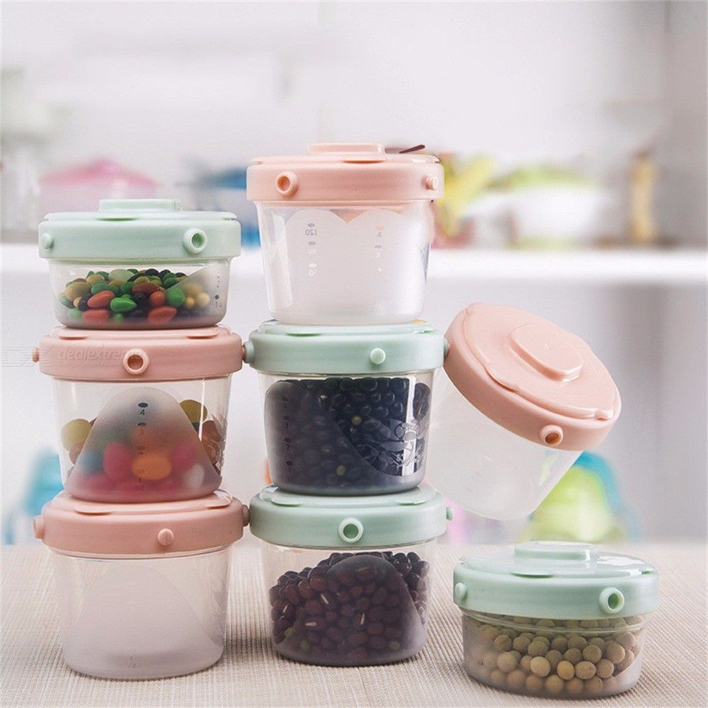 3pcs Multifunctional Baby Food Storage Sealed Container