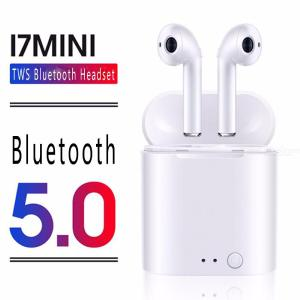 I7mini Bluetooth 5.0 Wireless Earphones TWS Water Resistant Noise Reduction 3D Stereo Earbuds With Mic Charging Case