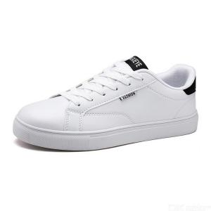 Breathable Lace-Up Sneakers Comfortable PU Leather Leisure Shoes For Men