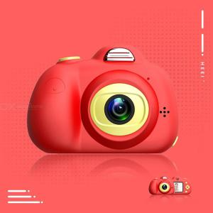 D6 Kids Digital Video Camera Creative DIY Camera For Kids With Soft Silicone Protective Shell 1080P HD Sport Learn Mini Camera