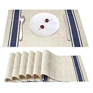 Simple Fashion Tableware Mats Modern PVC Square Table Pads Decorative Placemats For Dining Table