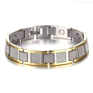 Classic Mens Stainless Steel Wristband Bracelet, Fathers Day Gift