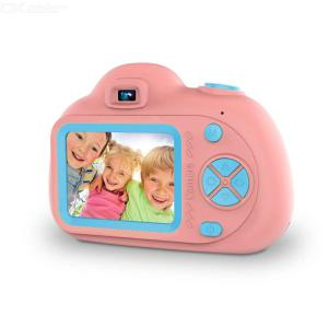 MD02 Cartoon Digital Camera For Kids, Portable Compact Cute Design Rechargeable Puzzle Games Video Camera For Girls  Boys