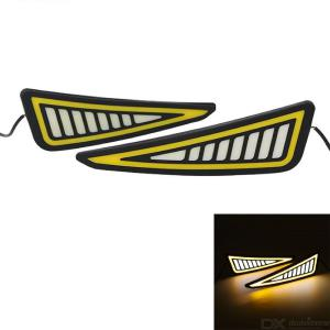 COB Daytime Running Light Silicone Flexible Waterproof DRL 12V White + Yellow Light Super Bright LED Strip Lights 7.4''