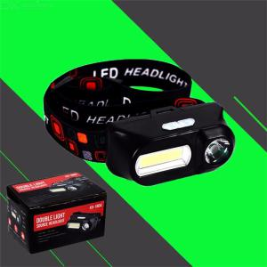 Outdoor Bright COB LED Headlamp, Rechargeable Waterproof 6 Modes Emergency Headlight For Camp Fishing Night Work  - Black
