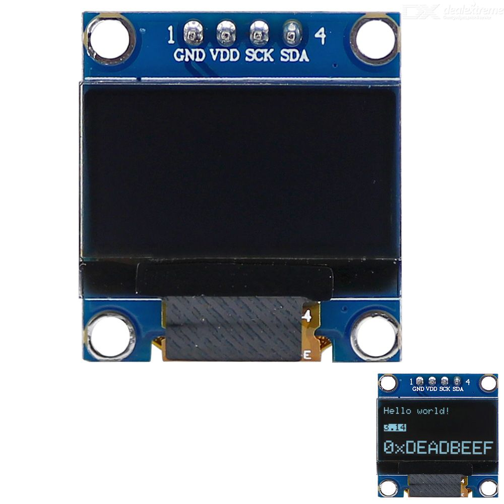 0 96 128x64 I2C Interface White Color OLED Display Module for Arduino