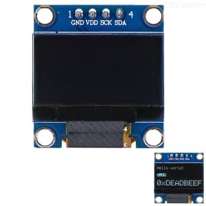 0.96 128x64 I2C Interface White Color OLED Display Module for Arduino