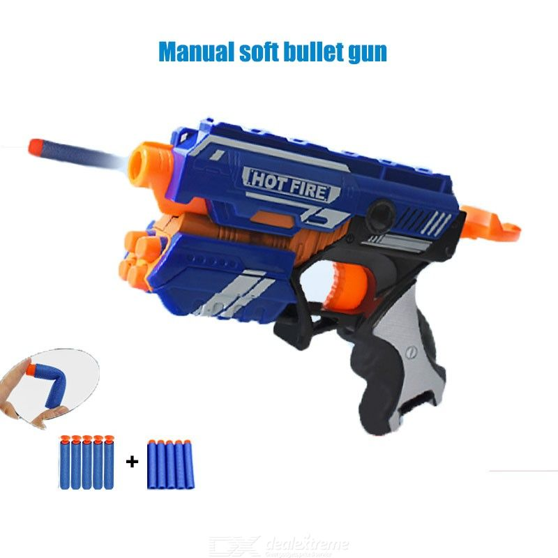 New Boys Toy Gun With Soft Bullets For Kids Above 6 Years Old ( 15 - 20m Range)