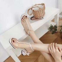 Summer-Ladies-Square-Head-Open-Toe-With-T-Strap-Transparent-Chunky-Heel-Sandals
