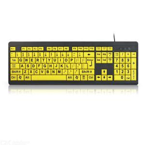 Large Print Keyboard USB 2.0 Wired Over-sized Letters Keyboard