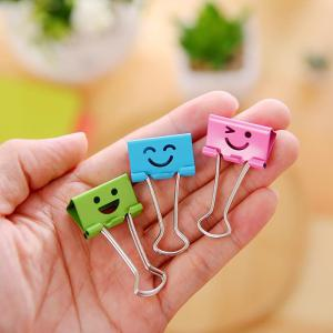 48Box Colour Smile Long Tail Clip,  Clip For Document Bill, Dovetail Clip, Office Supplies, 25MM