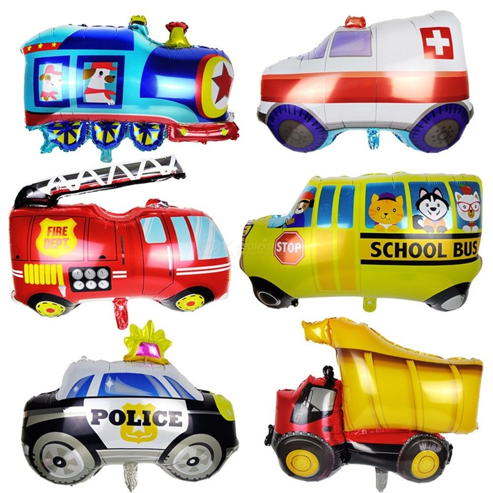 Decorative | Birthday | Children | Balloon | Cartoon | Police | Party | Train
