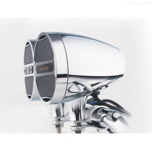 12V Motorcycle MP3 Bluetooth Sound All-metal Handlebar Sound Electric Vehicle Horn Waterproof Card Radio Silver Plating