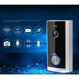 Compatible With Alexa Google Home  White Intelligent Wifi Visual Door Bell Set  Including Indoor Tinker And Battery Set