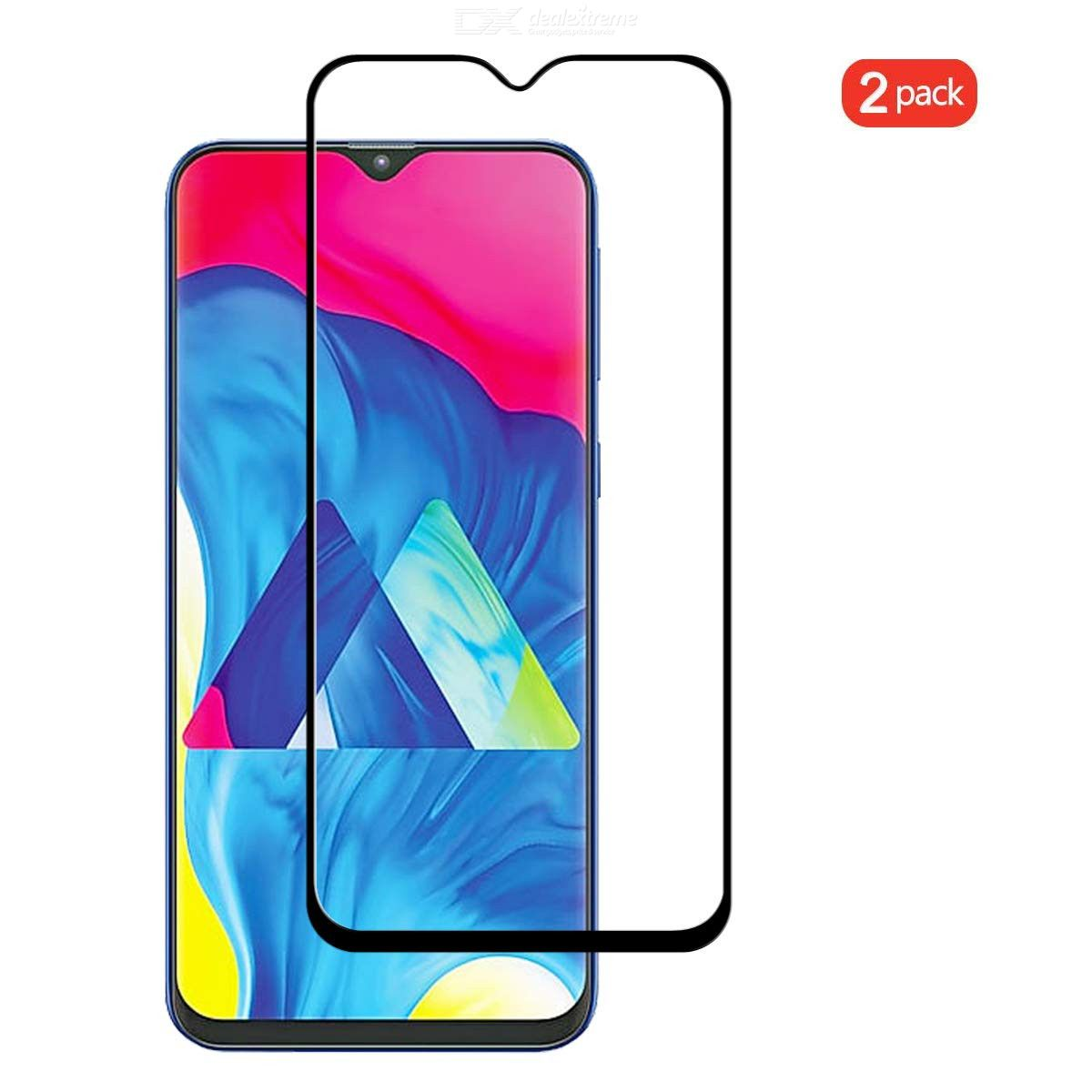 QULLOO Tempered Glass Screen Protector 2.5D Full Coverage Protection Front Film Glass Screen Protector for Samsung Galaxy A20e