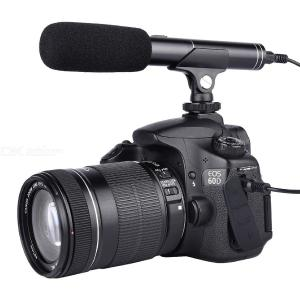 YELANGU MIC01 Professional Interview Microphone Aluminum Alloy Microphones for DSLR  Video Camera