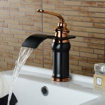 Brass-Waterfall-Deck-Mounted-Ceramic-Valve-One-Hole-Oil-rubbed-Bronze-Bathroom-Sink-Faucet-with-Single-Handle