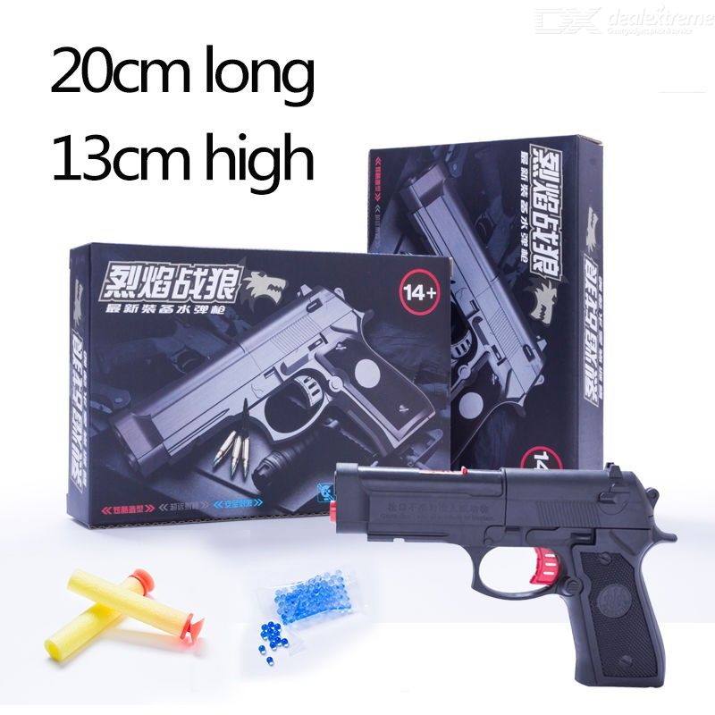 Mini Fun Toy Pistol Gun Soft Water Bullets Handgun Outdoor Plastic Gun for Children