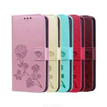 PU Flower Phone Wallet Case For HuaWei Y5 2019  HuaWei Honor 8S For Women  Card Slot   Phone Stand   Full Cover