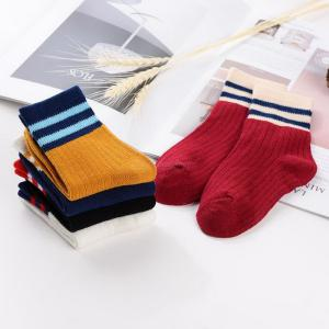 5 Pairs Summer Socks for Boys Girls Cotton Soft Comfortable Breathable Crew Socks for 1-8 Years Kids