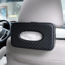 Car-Napkin-PU-Leather-Box-Tissue-Cover-Holder-Tie-up-Style