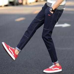 Ripped Denim Jeans Men Slim-fit Casual Ripped Trousers Pants