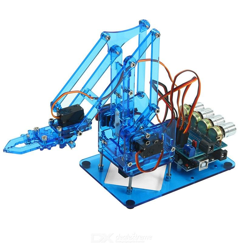 Assembled Acrylic Mechanical Arm Kit Open Source Diy Robot Arm Learning Kits