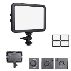 YELANGU 204 LED Video Light Dimmable Panel Lights for All DSLR and Home DV Cameras