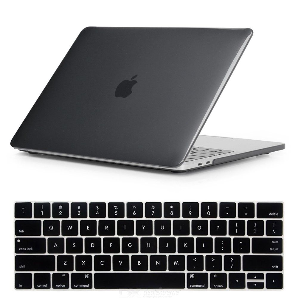 2-in-1 Protective Crystal Hard Shell Case and Keyboard Cover for Apple MacBook Pro 13 Inch A1706 with Touch Bar and Touch ID