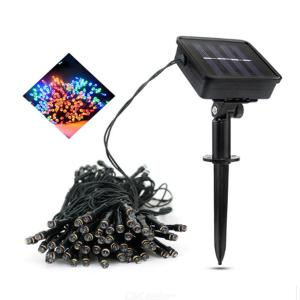 14M 100LED Solar Powered Fairy Lights Outdoor Waterproof Led String Strip Light for Christmas Street Garden Decor Lamp