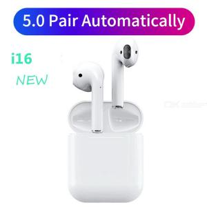 i16Max Bluetooth 5.0 Wireless Earphones Original 1:1 Earbuds Headphone with Microphone Stereo Sound