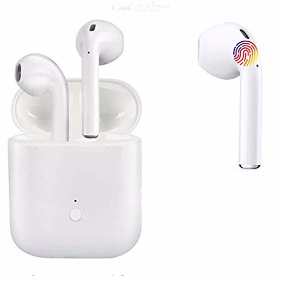 Bluetooth 5.0 Wireless Earphones 3D Stereo Sound Smart Touch Earbuds with Mic Charging Case for All Bluetooth Devices