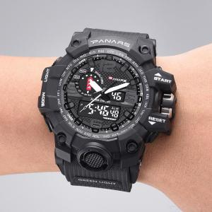 Mens Digital Watch Premium Large Analog Sports Watch With EL Backlight
