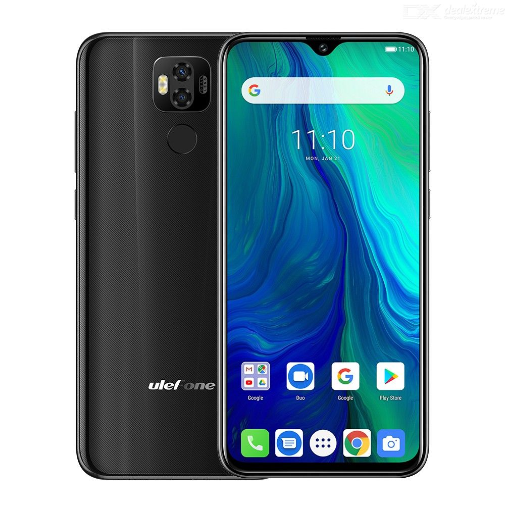 Ulefone Power 6 Android 9.0 Helio P35 Octa-core 4GB RAM 64GB ROM 6.3 inch 6350mAh Big Battery