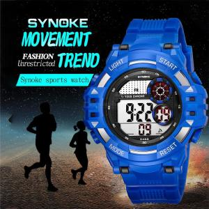 SYNOKE Mens Outdoor Watch Stylish Digital Watch 30m Water Resistance