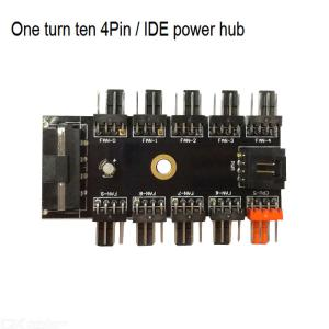 IDE 1 to 10 4Pin Cooling Fan Hub 10-Way Sata Power Supply PWM Adapter for Computer