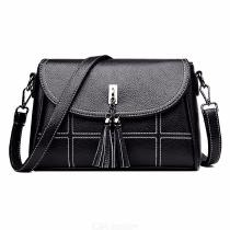 Shoulder-Bag-Fashionable-PU-Leather-Large-Capacity-Crossbody-Bag-for-Women-Black-Red