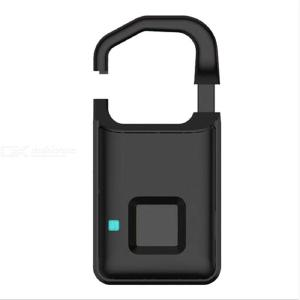 USB Rechargeable Smart Padlock Keyless Fingerprint Lock Electronic Biometric Anti-theft Backpack Lock for Home Outdoor