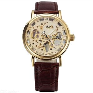Retro Hollow-out Watch Vintage Analog Wristwatch With Leather Band