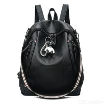 PU-Leather-Backpack-Fashionable-Large-Capacity-Anti-theft-Shoulder-Bag-for-Women-Black