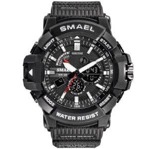 SMAEL 1809 50m Waterproof Digital Wristwatch, Mens Sports Watch
