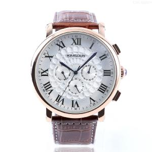Mens Casual Watch Premium Automatic Waterproof Wristwatch With Leather  Band
