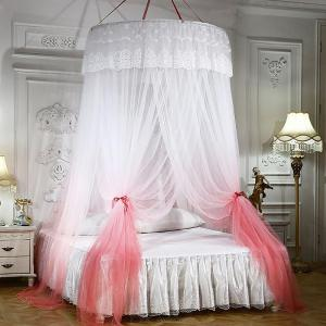 Romantic Lace Canopy Netting Mesh Curtain Round Dome Princess Bedding Net